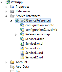 service reference in solution